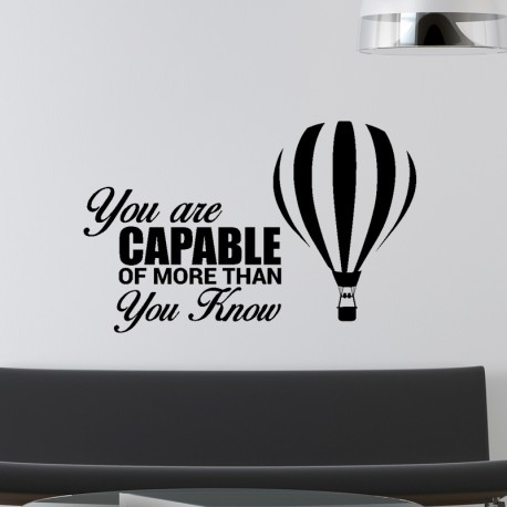 Sticker You are capable of more than you know