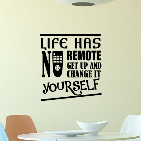 Sticker Life has no remote