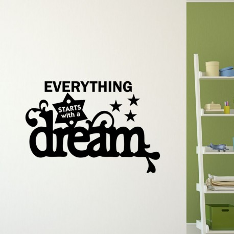 Sticker Everything starts with a dream