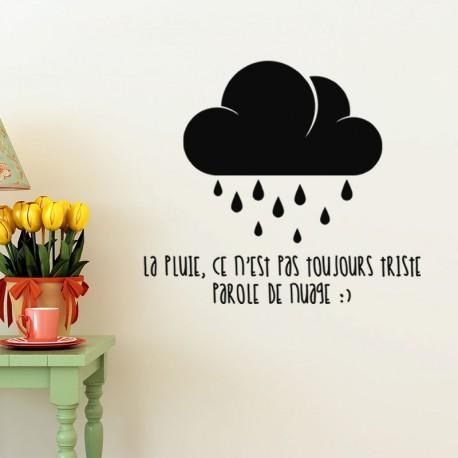 Sticker La pluie ce n'est pas toujours triste
