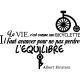 Sticker La vie, c'est comme une bicyclette