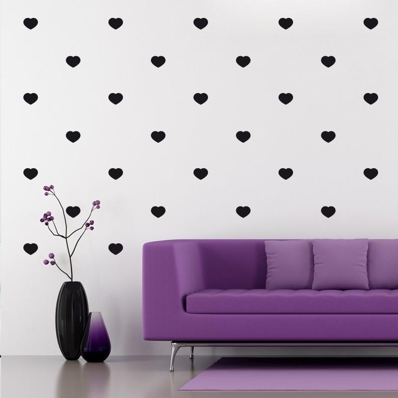 Sticker effet tapisserie coeur - Tapisserie effet miroir ...