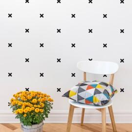 Sticker effet tapisserie croix