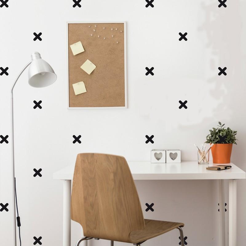 Sticker effet tapisserie croix - Tapisserie effet miroir ...