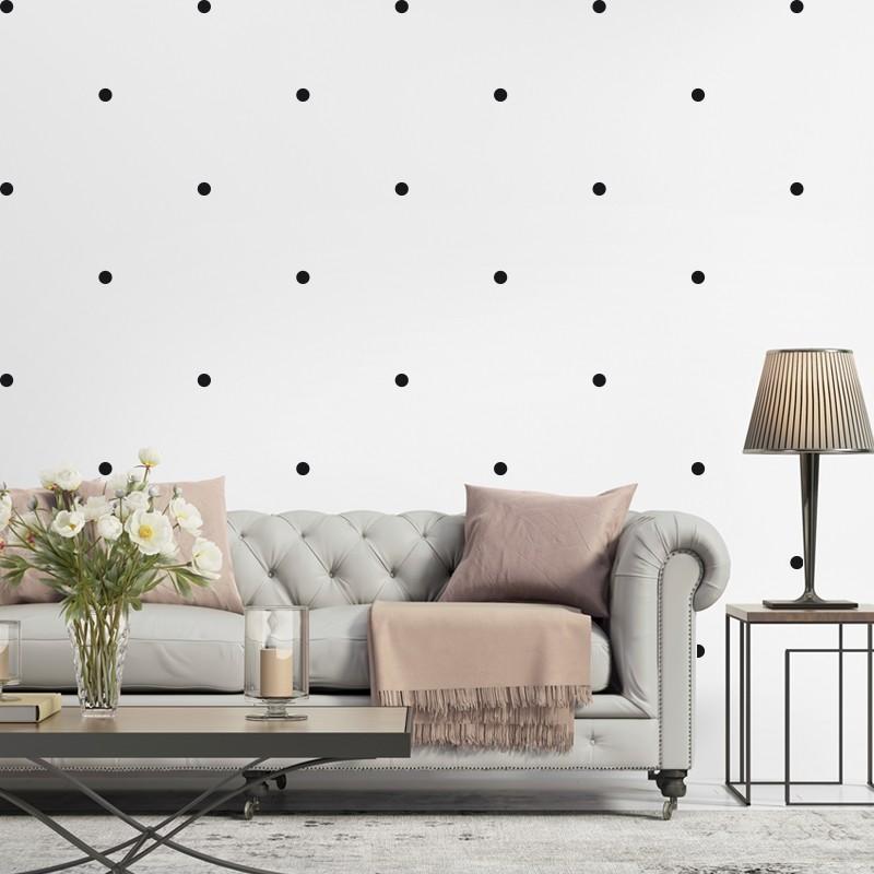 Sticker effet tapisserie pois - Tapisserie effet miroir ...
