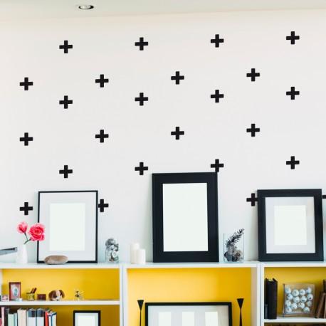 Sticker effet tapisserie croix 2