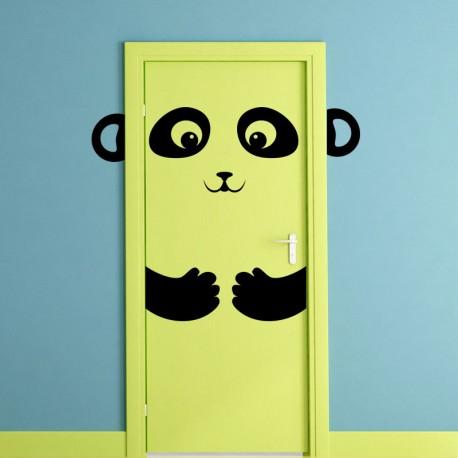 Sticker panda souriant