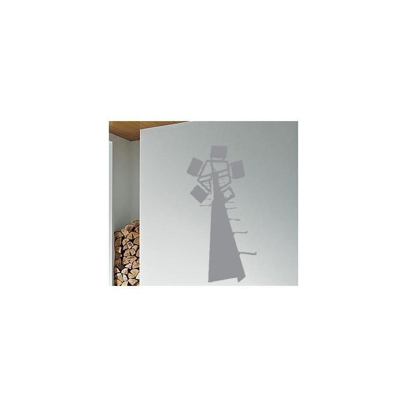 Sticker d coratif d 39 un moulin vent d cors de fond pour une d co moderne - Moulin a vent decoratif ...