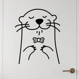 Sticker phoque heureux