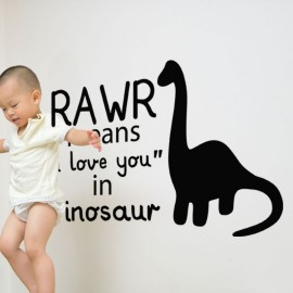 "Sticker rawr means ""I love you"" in dinosaur"