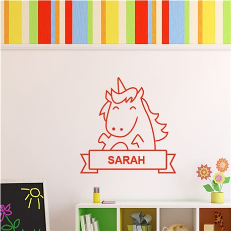 Sticker cheval souriant