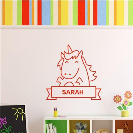 Sticker cheval souriant