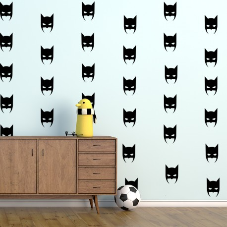 Sticker effet tapisserie batman