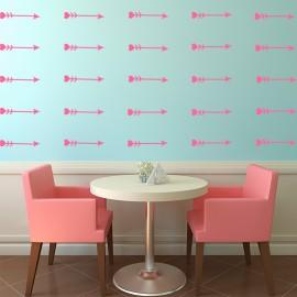 Sticker effet tapisserie flêche coeur