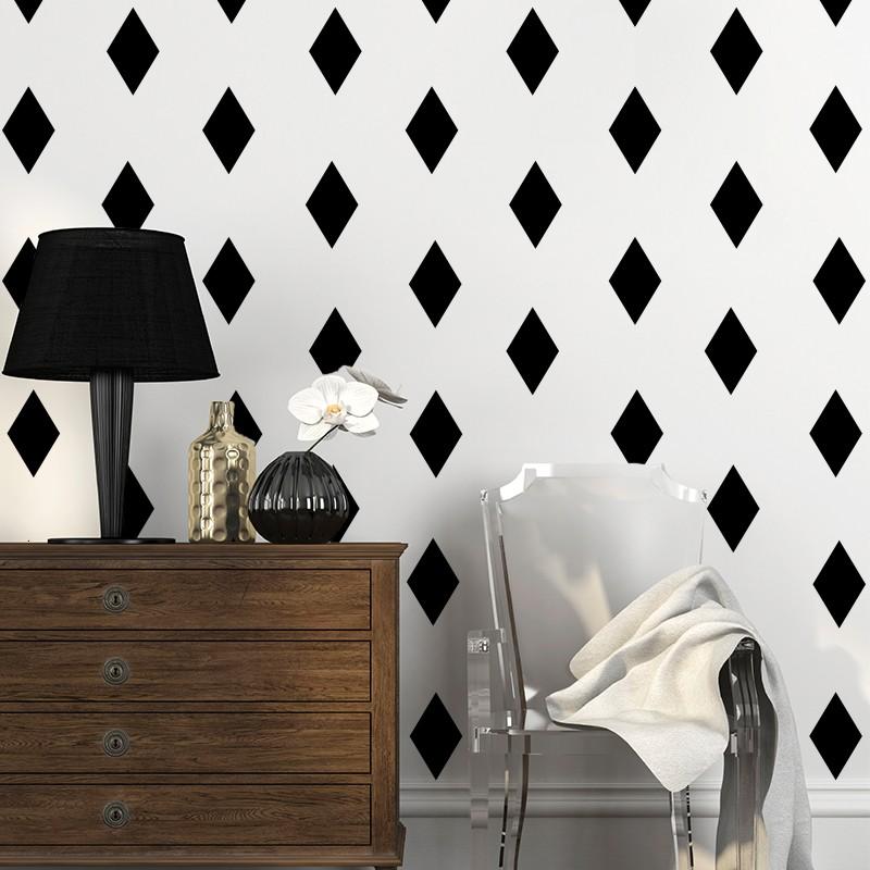 Sticker effet tapisserie losange - Tapisserie effet miroir ...