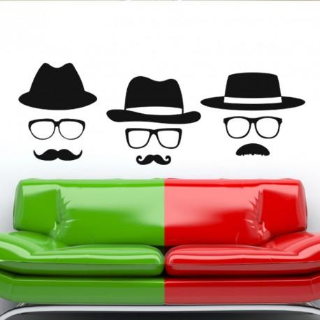 Sticker Chapeaux, lunettes et moustaches