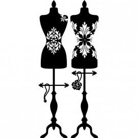 Sticker Mannequins habillés en vêtement, bijoux