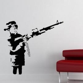 Sticker silhouette guerillero