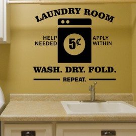Sticker laundry room