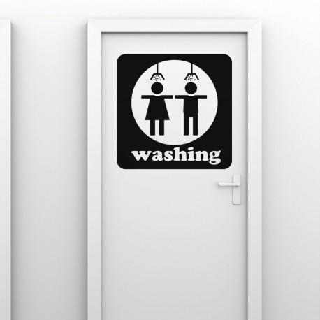 Sticker washing