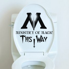Sticker ministry of magic this way