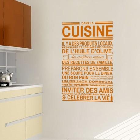 Sticker dans la cuisine