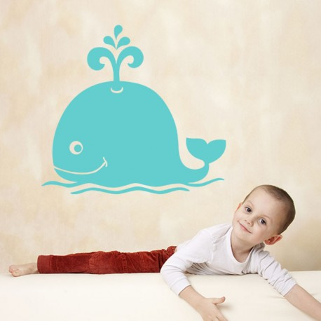 Sticker baleine souriante