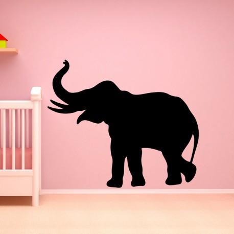 Sticker silhouette éléphant
