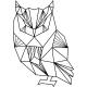 Sticker hibou géométrique