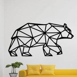Sticker ours géométrique
