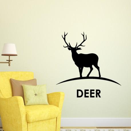 Sticker silhouette cerf