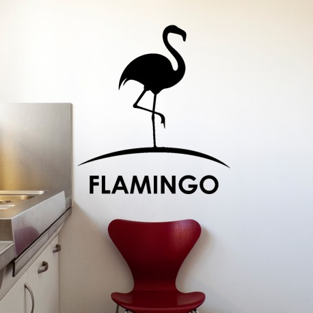 Sticker silhouette flamingo