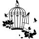 Sticker oiseaux hors de leur cage