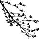 Sticker branche d'arbre