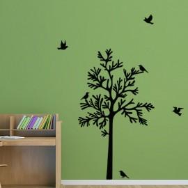 Sticker oiseaux sur un arbre