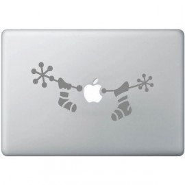 Sticker Hanging chaussettes pour cadeaux de Noël pour iPad / MacBook