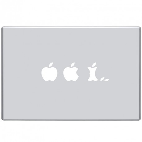 Sticker Mac evolution de la pomme