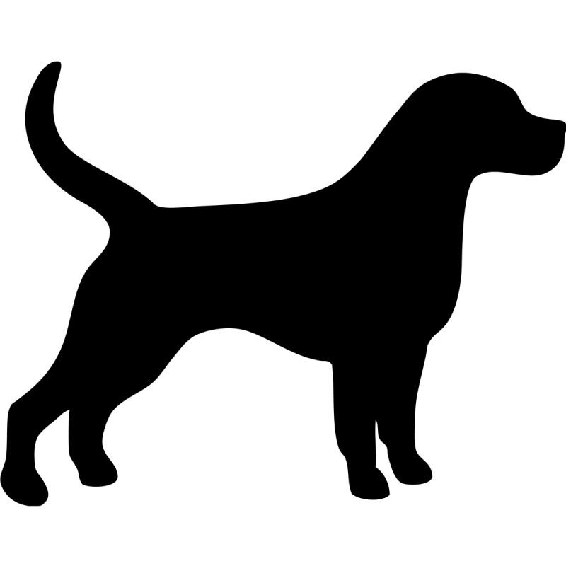 Célèbre Ardoise Silhouette chien YS88