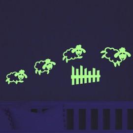 Sticker saut de mouton phosphorescents