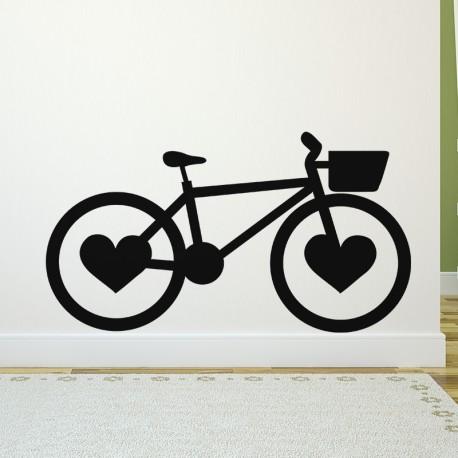 Sticker vélo avec coeur