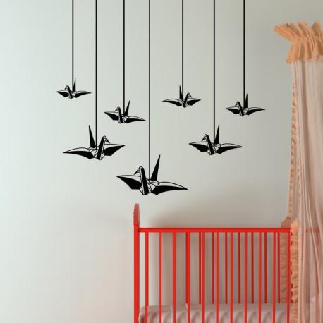 Sticker oiseaux suspendus