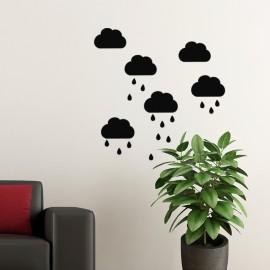 Sticker nuages et pluie