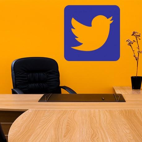 Sticker symbole tweeter