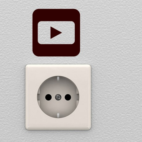 Sticker symbole youtube