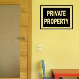 Sticker private property