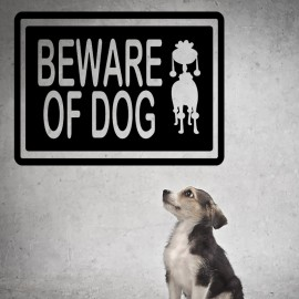 Sticker beware of dog
