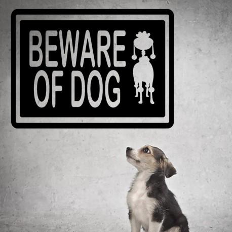 Sticker beware of dog