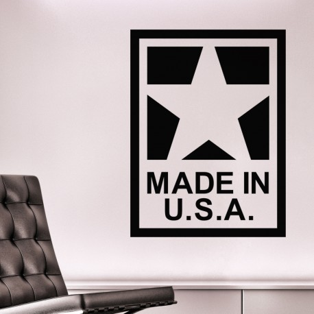 Sticker made in U.S.A.
