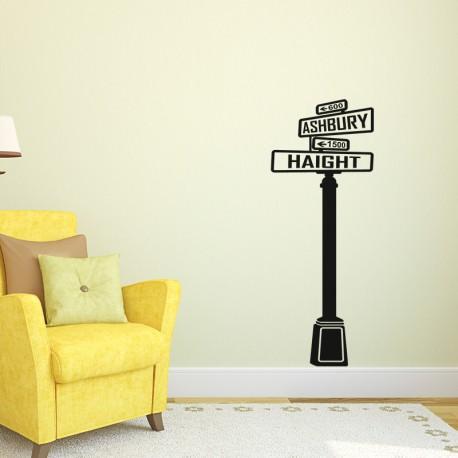 Sticker panneau de direction