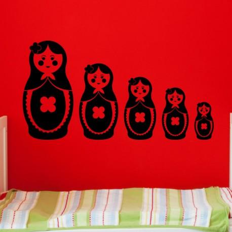 Sticker poupées Russe décroissantes